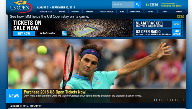 2015年全米オープンテニス